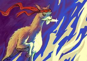 Ninja Llama by Saskle