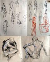 Figure Drawings by Saskle