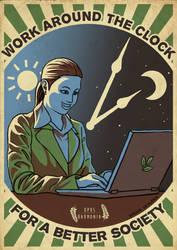 Work Around The Clock Propaganda by Saskle