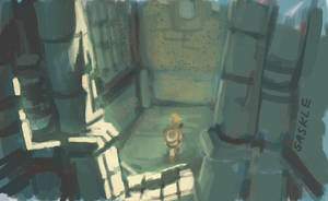 BotW Speedpaint #4: Ruins of the Temple by Saskle