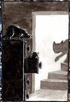 Inktober #2: Cat Alarm by Saskle