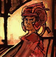 Sci Fi Scribble by Saskle