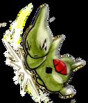 Larvitar uses Body Slam! by Saskle