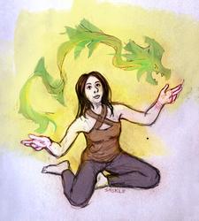 Magical Pet Dragon by Saskle