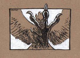 Inktober #14: Fierce by Saskle