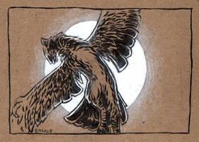 Inktober #17: Graceful by Saskle