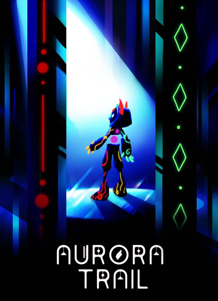 Aurora Trail Poster by Saskle