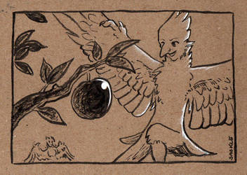 Late Inktober #23: Juicy by Saskle