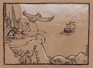 Late Inktober #25: Ship