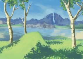 Lake Kolomo with Dueling Peaks by Saskle
