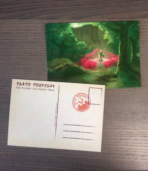 Postcard Fairy Fountain by Saskle