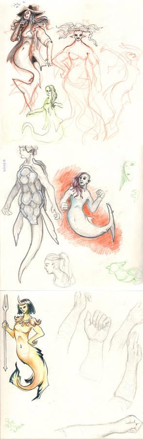 Mermay Sketchbook Pages