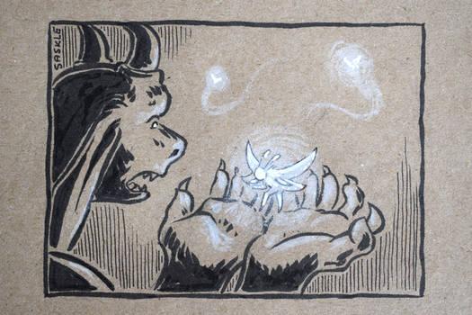 Inktober #9: Precious by Saskle