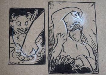 Inktober #11: Cruel by Saskle