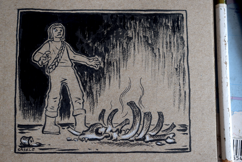Inktober #19: Scorched by Saskle
