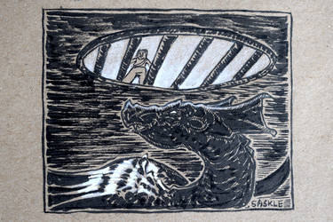 Inktober #21: Drain by Saskle