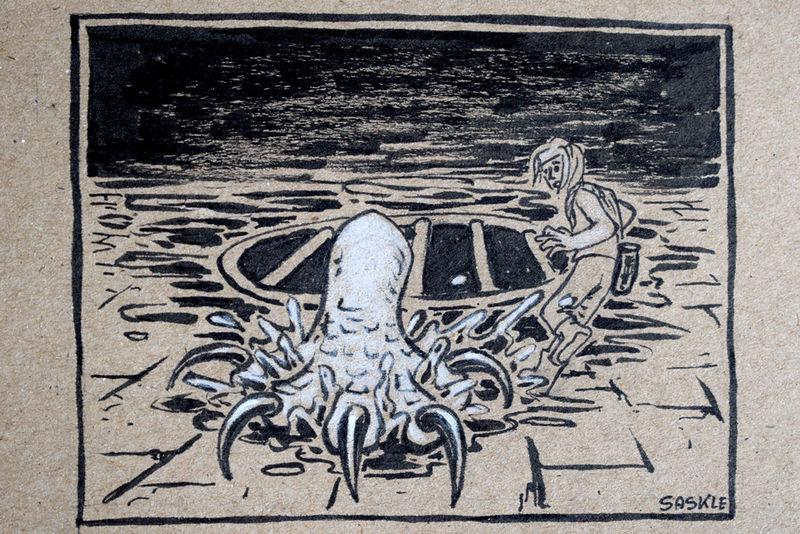 Inktober #23: Muddy by Saskle