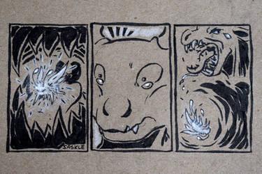 Inktober #25: Prickly by Saskle