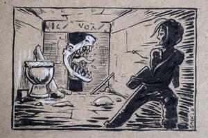 Inktober #31: Slice by Saskle