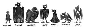 Harpy Lineup #1 by Saskle