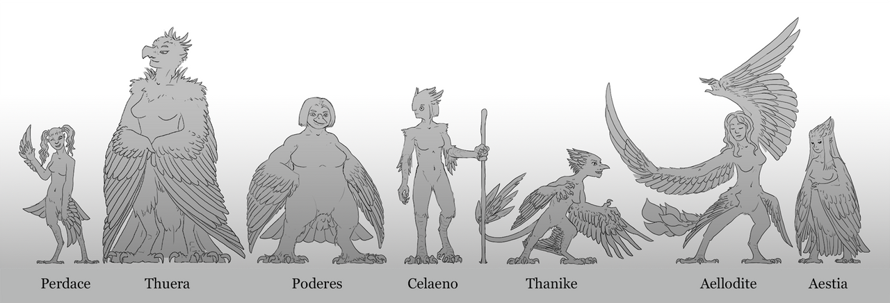 Final Harpy Lineup by Saskle