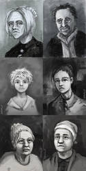 Crime and Punishment Character Portraits