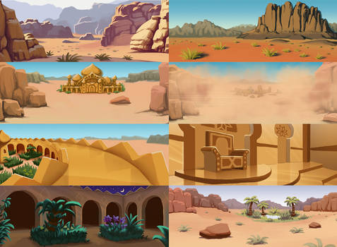 Desert Event Illustrations for RE:IS