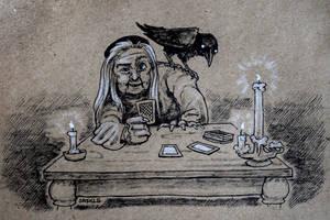 Inktober #11: Tarot