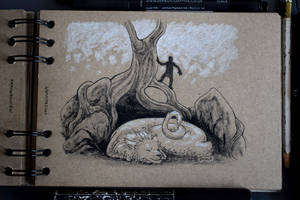 Inktober #17: Tatzelwurm