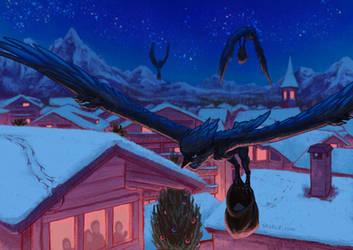 Harpy Christmas Card