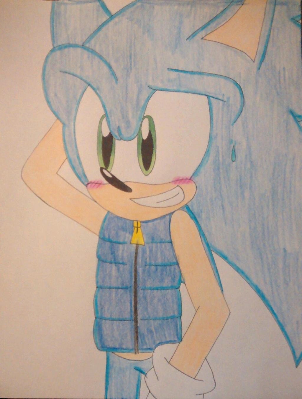 Sonic In A Life Jacket By Sonicgirlfriend65 On Deviantart