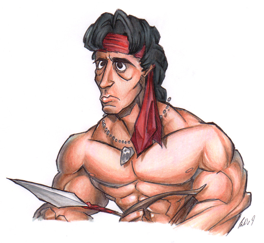 80's Faces - Rambo by BrendanCorris