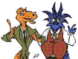 Herb and Rex by BrendanCorris