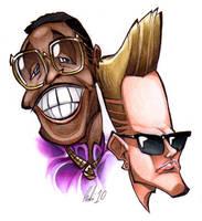 MC Hammer and Vanilla Ice by BrendanCorris