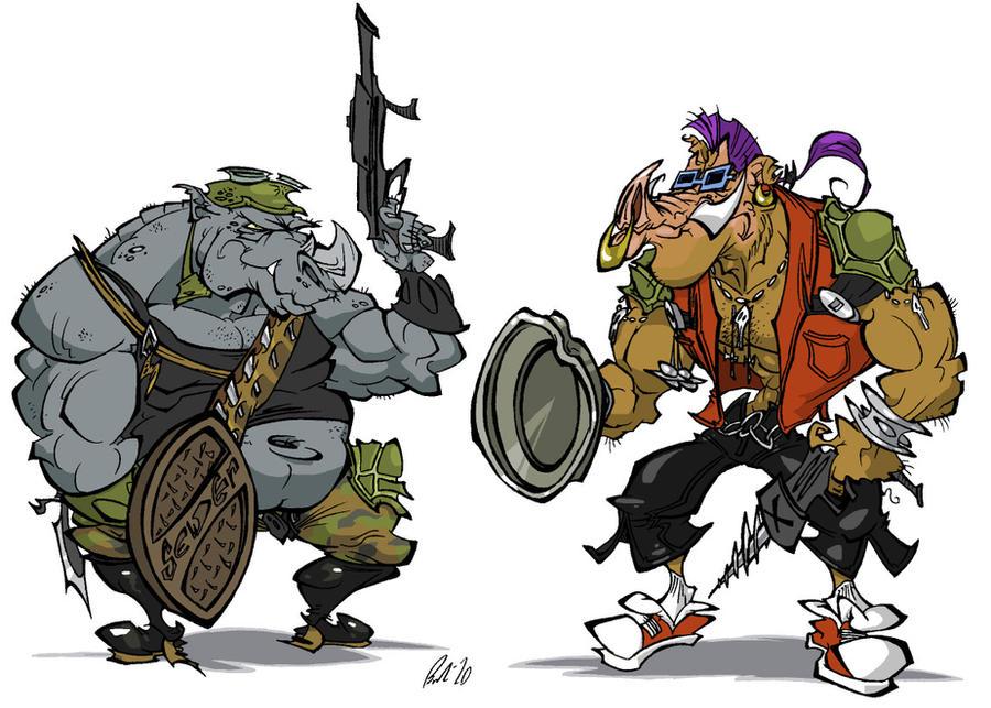 Rocksteady and Bebop by BrendanCorris
