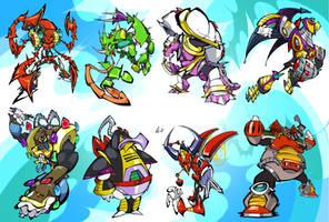 Mega Man X Bosses by BrendanCorris