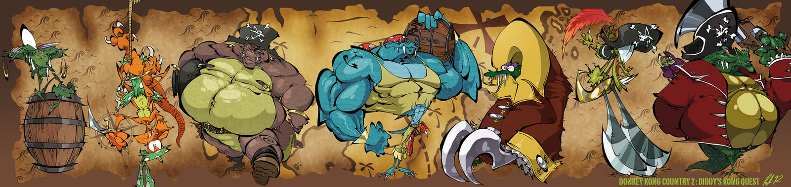 Donkey Kong Country 2 :Diddy's Kong Quest Bookmark by BrendanCorris