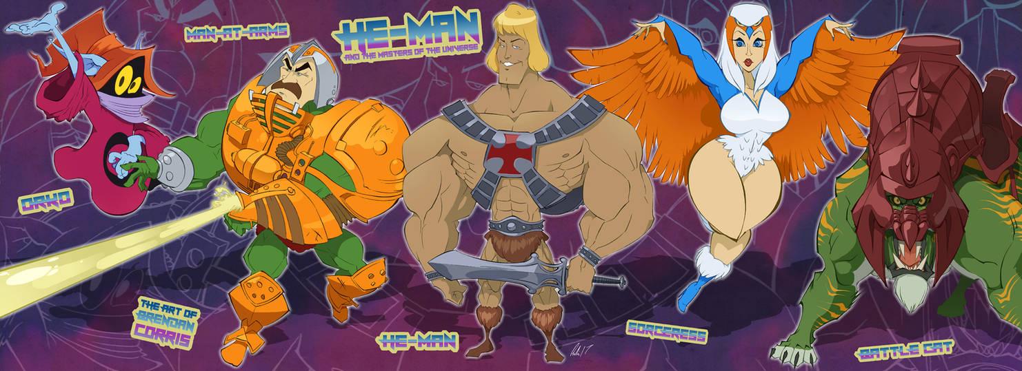 MOTU - He-Man and the Heroes by BrendanCorris