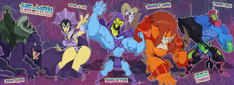 MOTU - Skeletor and the Villains by BrendanCorris