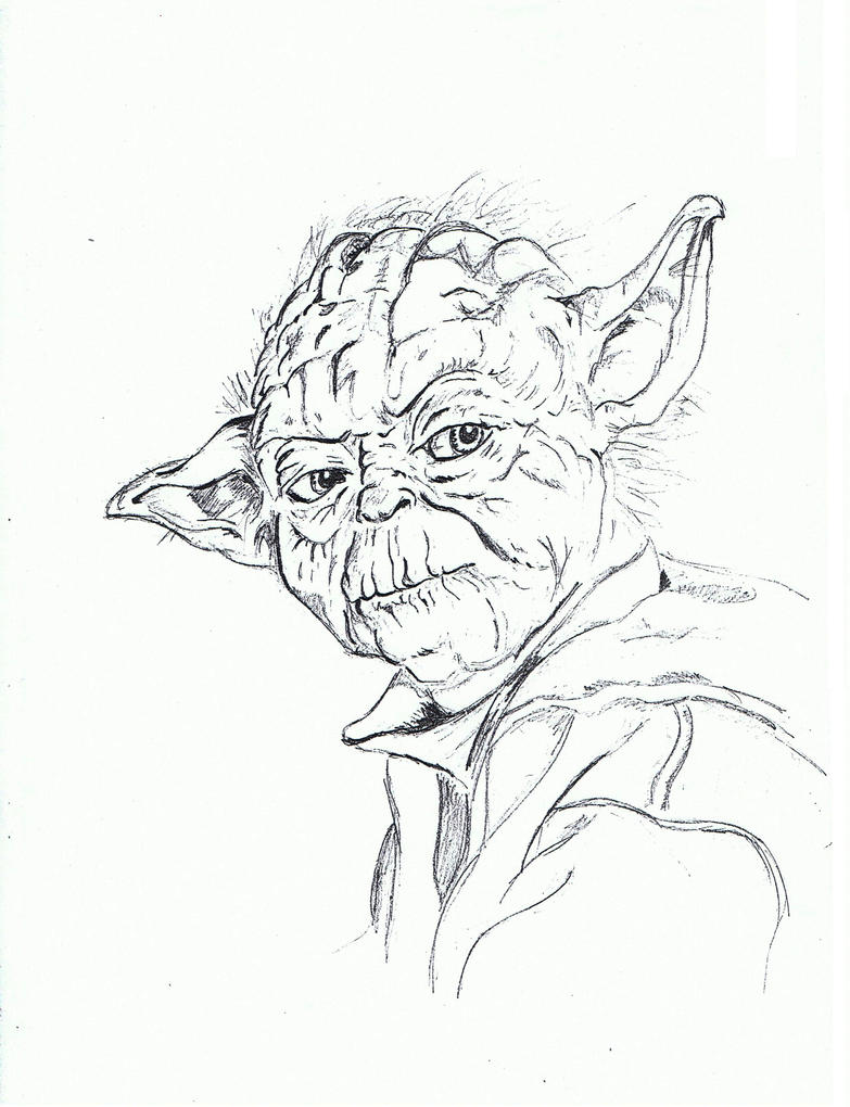 yoda head coloring pages - photo#26
