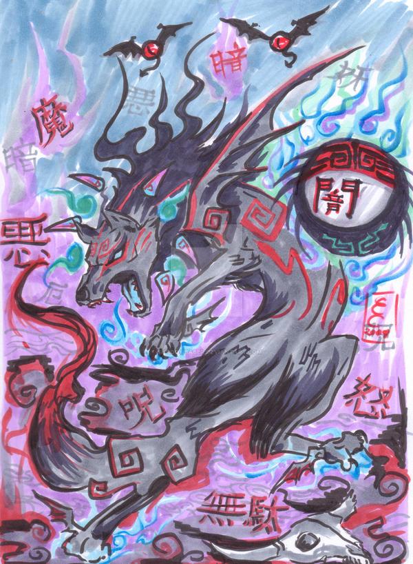 Dark Okami Yami Reborn by ShadowSaber