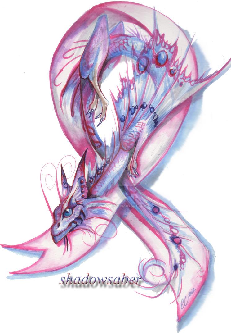 Pink Ribbon Dragonnet by ShadowSaber