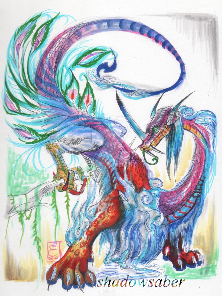 Sirrush the Ranibow Dragon by ShadowSaber
