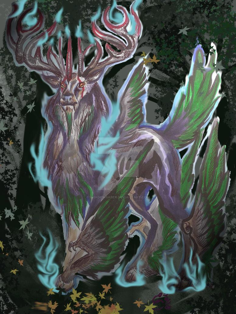 Deepwoods king Peryton by ShadowSaber