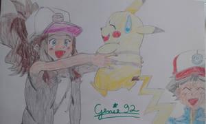 Ash meets Hilda by Genie92