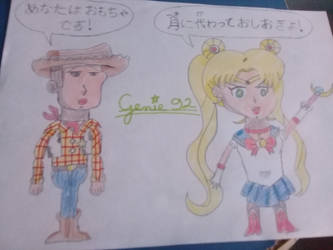 Sailor Moon in Toy Story world