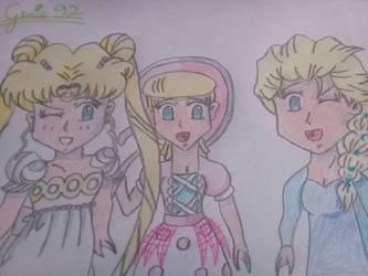 Chibi blonde girls