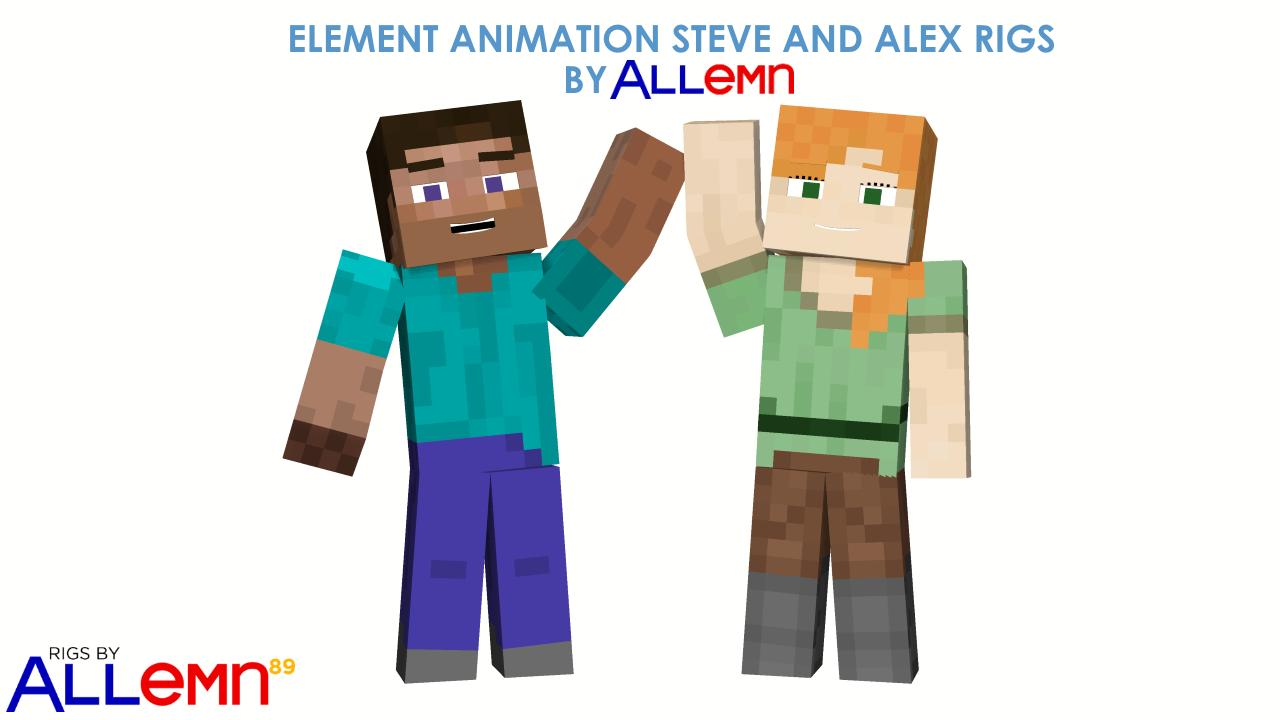Стив и алекс в майнкрафт картинки