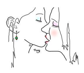 Girls Kissin' by JustRagz