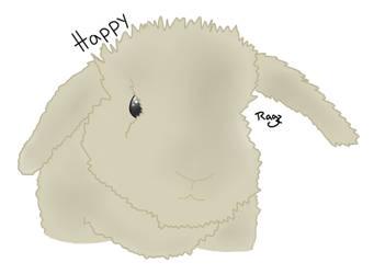 Happy the Rabbit by JustRagz